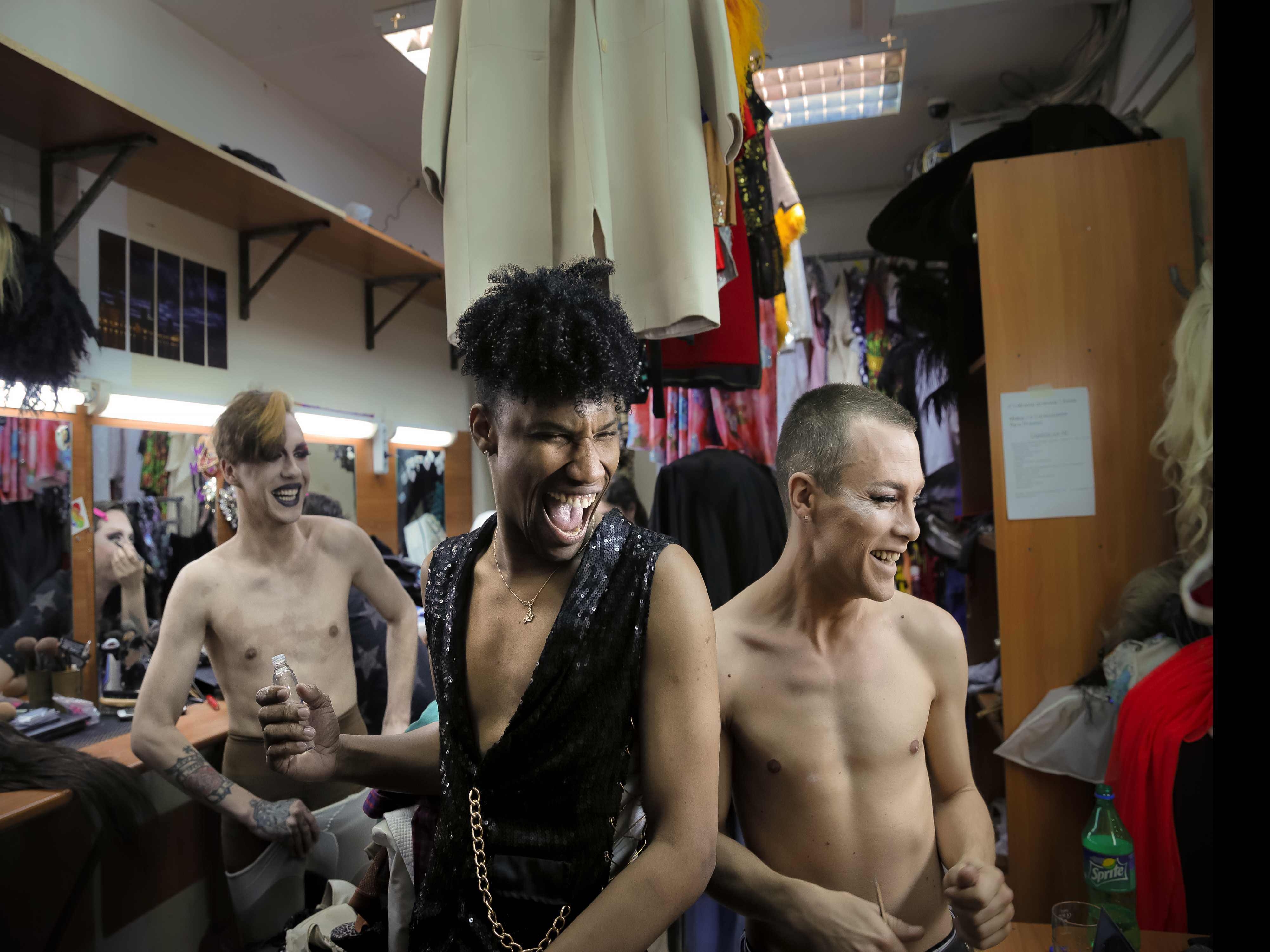 On Stage, Russian Drag Stars Leave Fears Behind