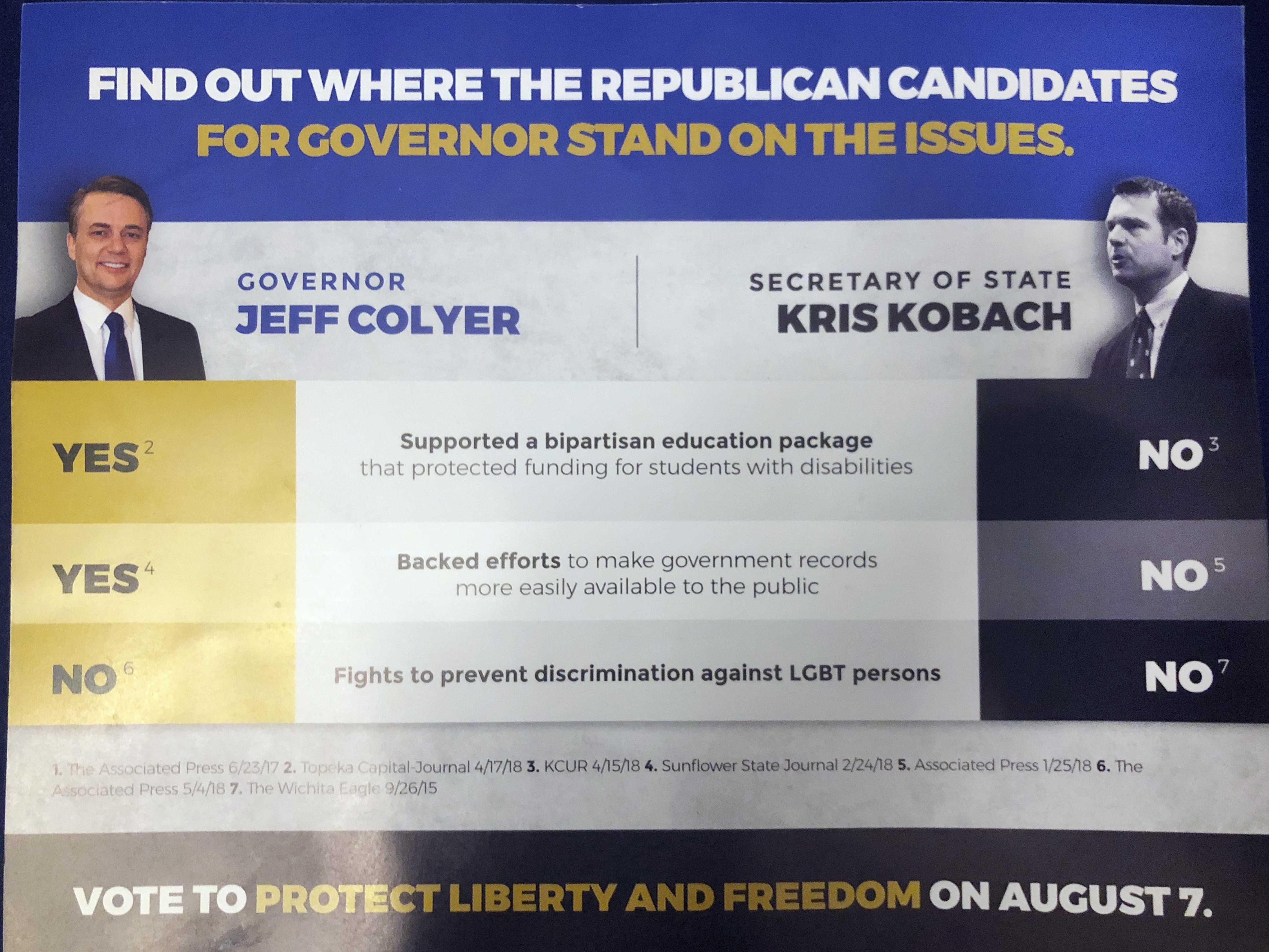 ACLU Attack on Kobach Roils Kansas GOP Governor Primary