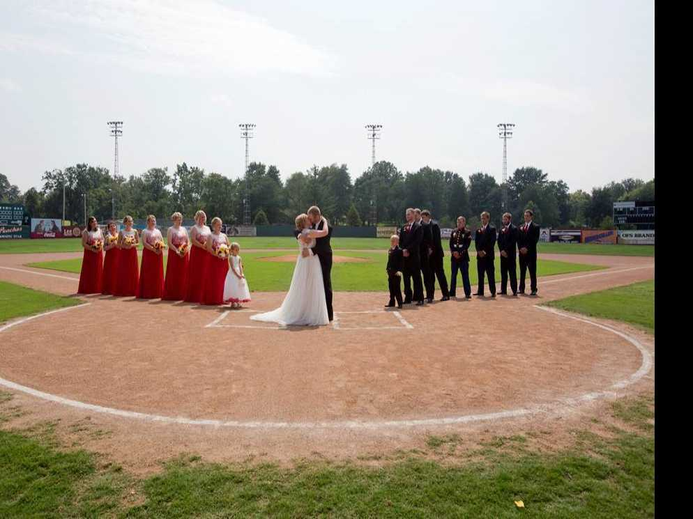 Indiana Couple Weds at 'A League of Their Own' Stadium