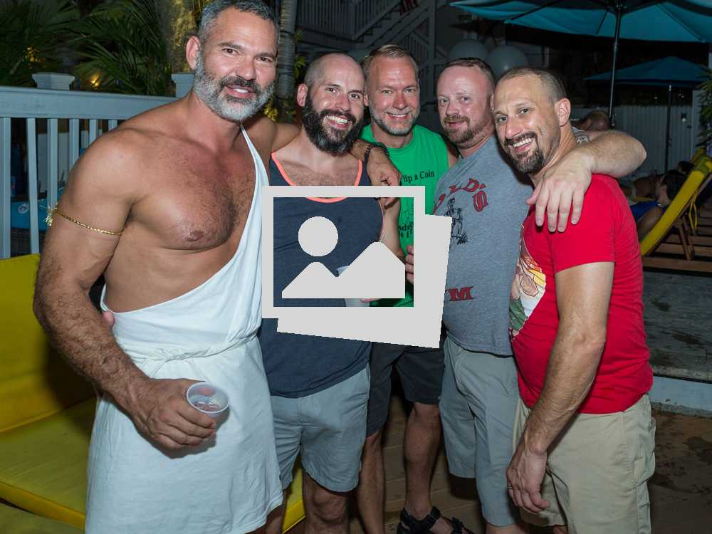 Key West Tropical Heat Toga Party @ Equator Guest House & Big O Party @ Bourbon Street Pub Garden Bar.