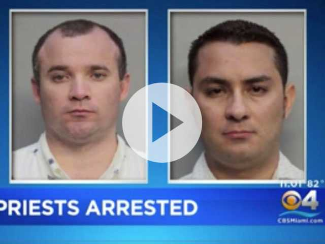 Watch: Miami Beach Police Arrest 2 Priests Caught Hooking Up in a Car