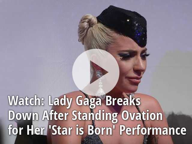 Watch: Lady Gaga Breaks Down After Standing Ovation for Her 'Star is Born' Performance
