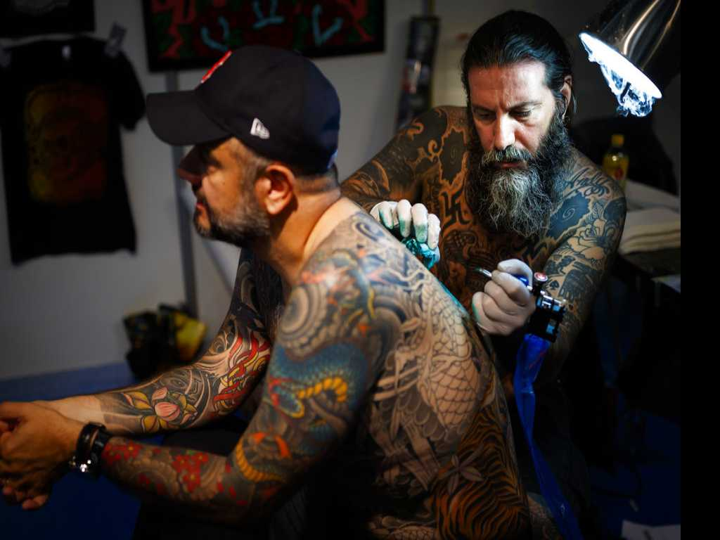 Tattoo Artists Show Off Their Skills at Montreux Convention