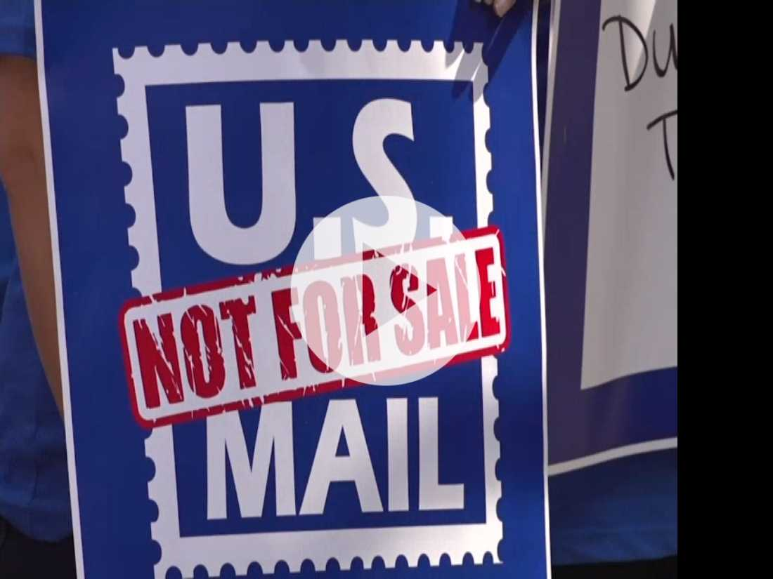 Postal Workers Rally Against Privatization of Mail