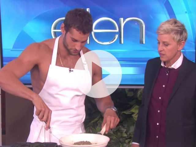 Flashback Friday: Naked Peruvian Chef Franco Noriega on 'Ellen'