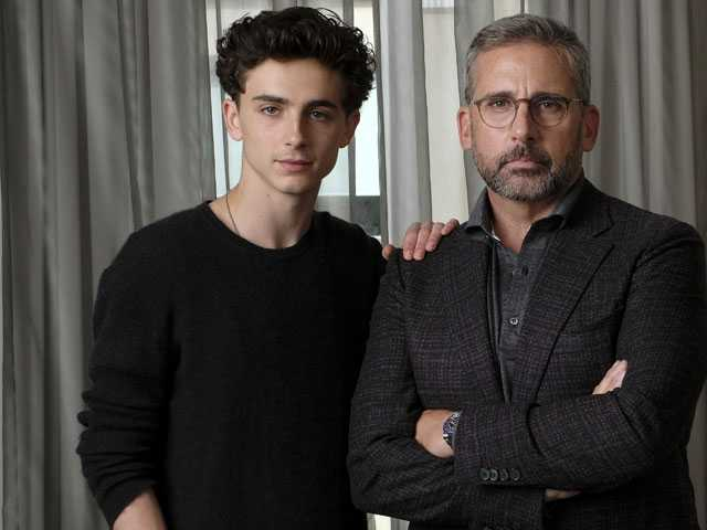 Carell and Chalamet on Bonding for the Film 'Beautiful Boy'
