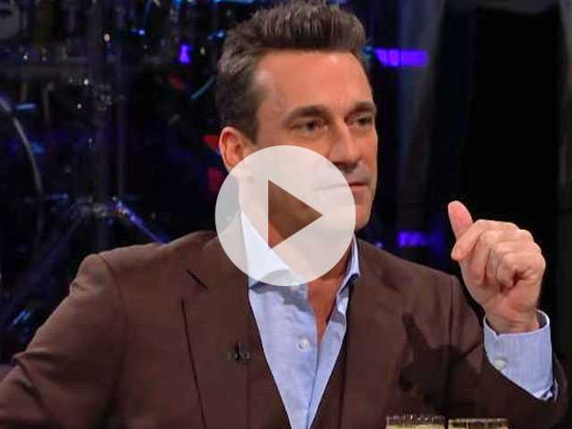 Watch: Jon Hamm Asked to Dish About His... 'Hammaconda'