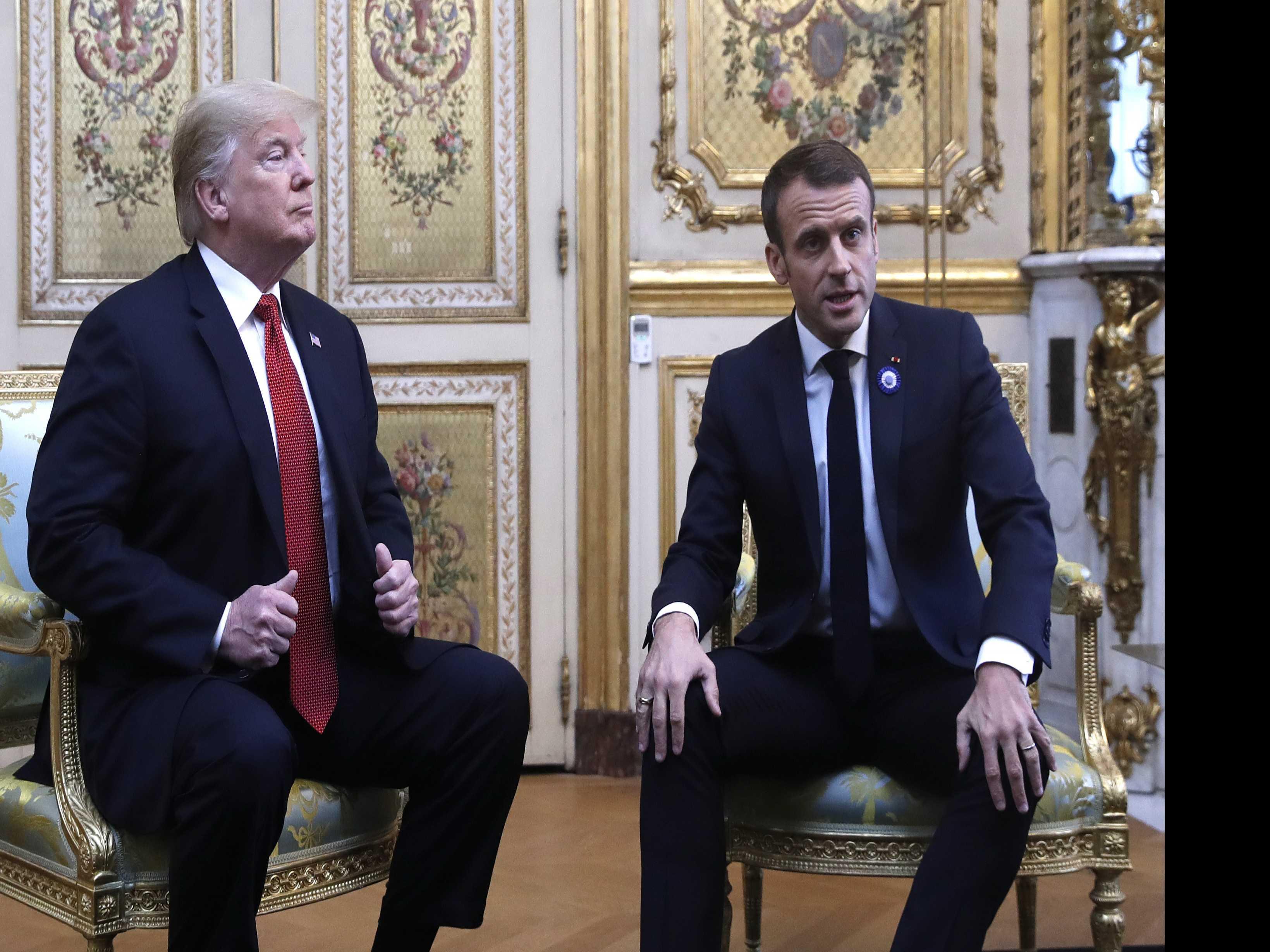 Trump, Macron Seek to Ease Tensions Before WWI Anniversary