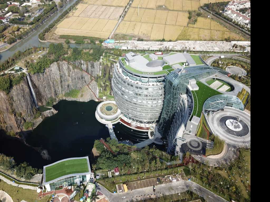 Luxury Hotel Built in Former Pit Mine Opens in China
