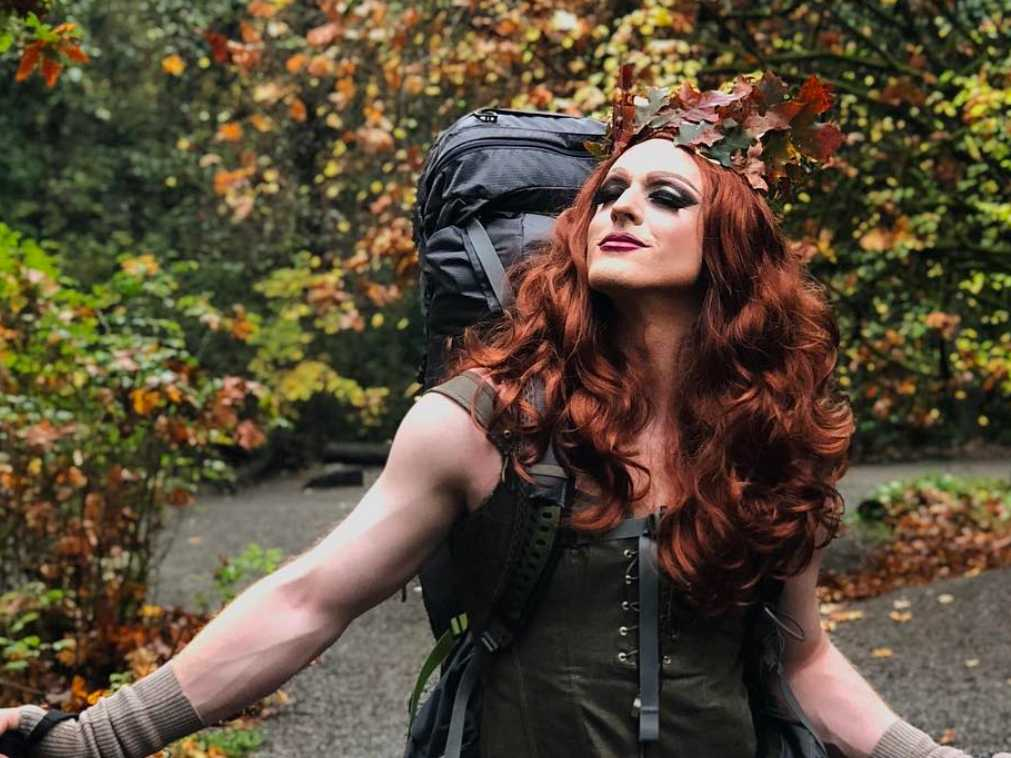 Eagle Scout Commands Social Media with Drag Name, Stiletto Heel Hikes