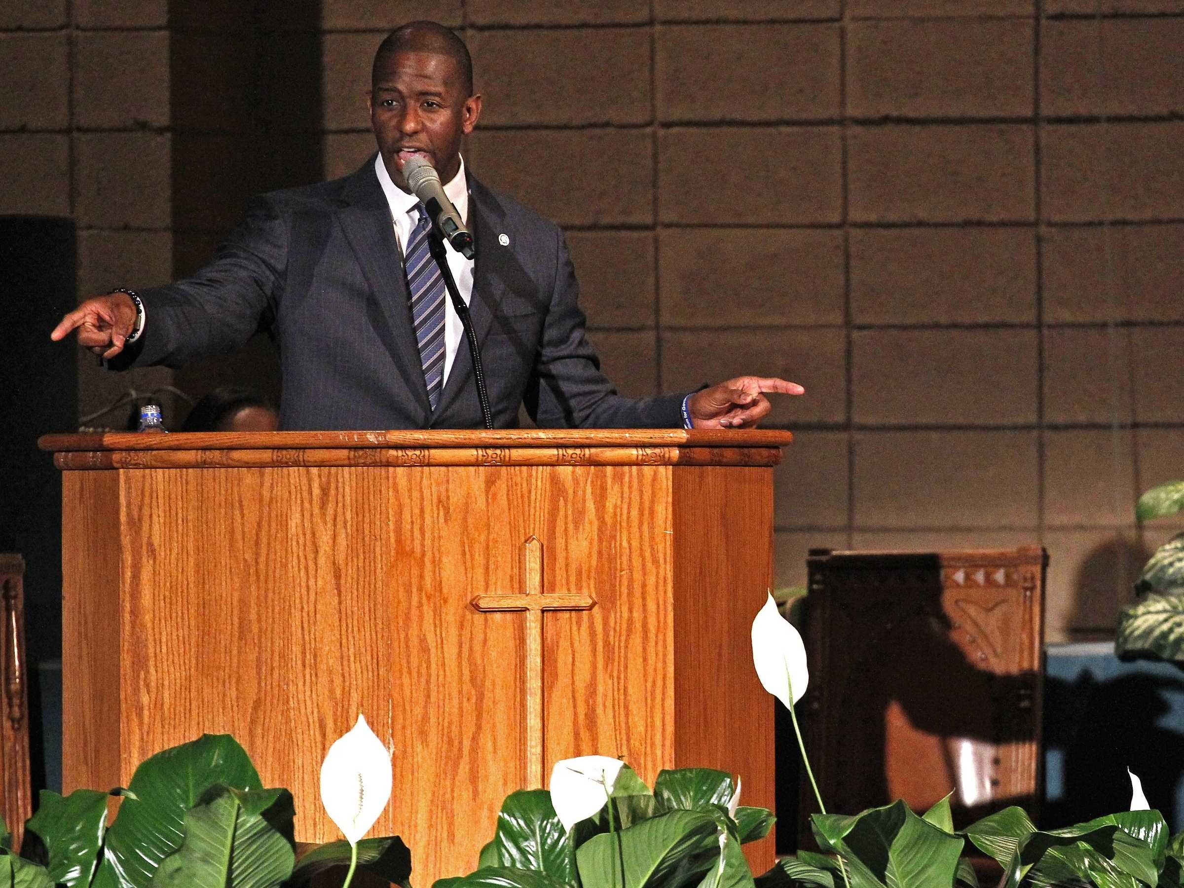1st Black Democratic Nominee for Florida Gov Gives Up Race