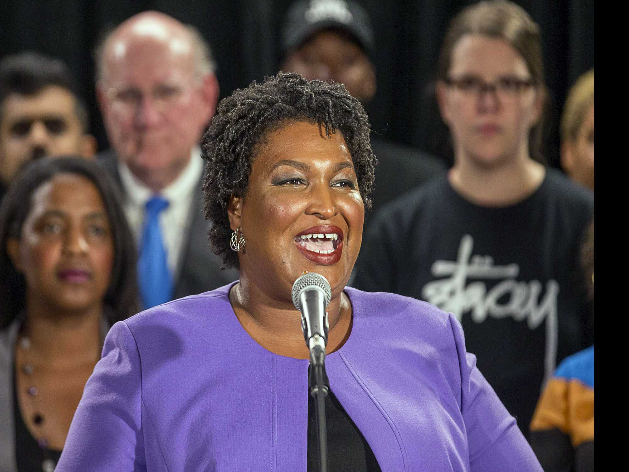 In Defeat, Abrams Emerges as Leading Voting Rights Advocate