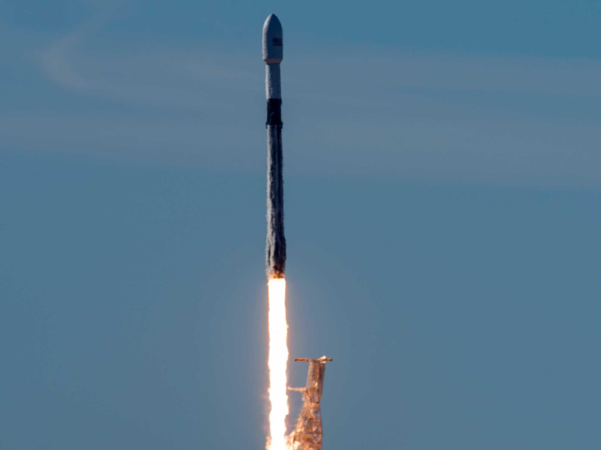 Reused Rocket Takes Off Carrying 64 Satellites