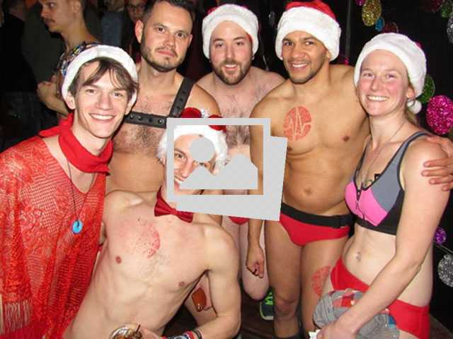 Santa Speedo Run @ Sidetrack The Video Bar, Chicago :: December 8, 2018