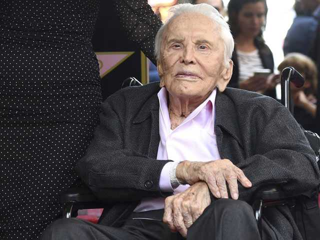 Watch: Kirk Douglas Celebrates 102nd Birthday