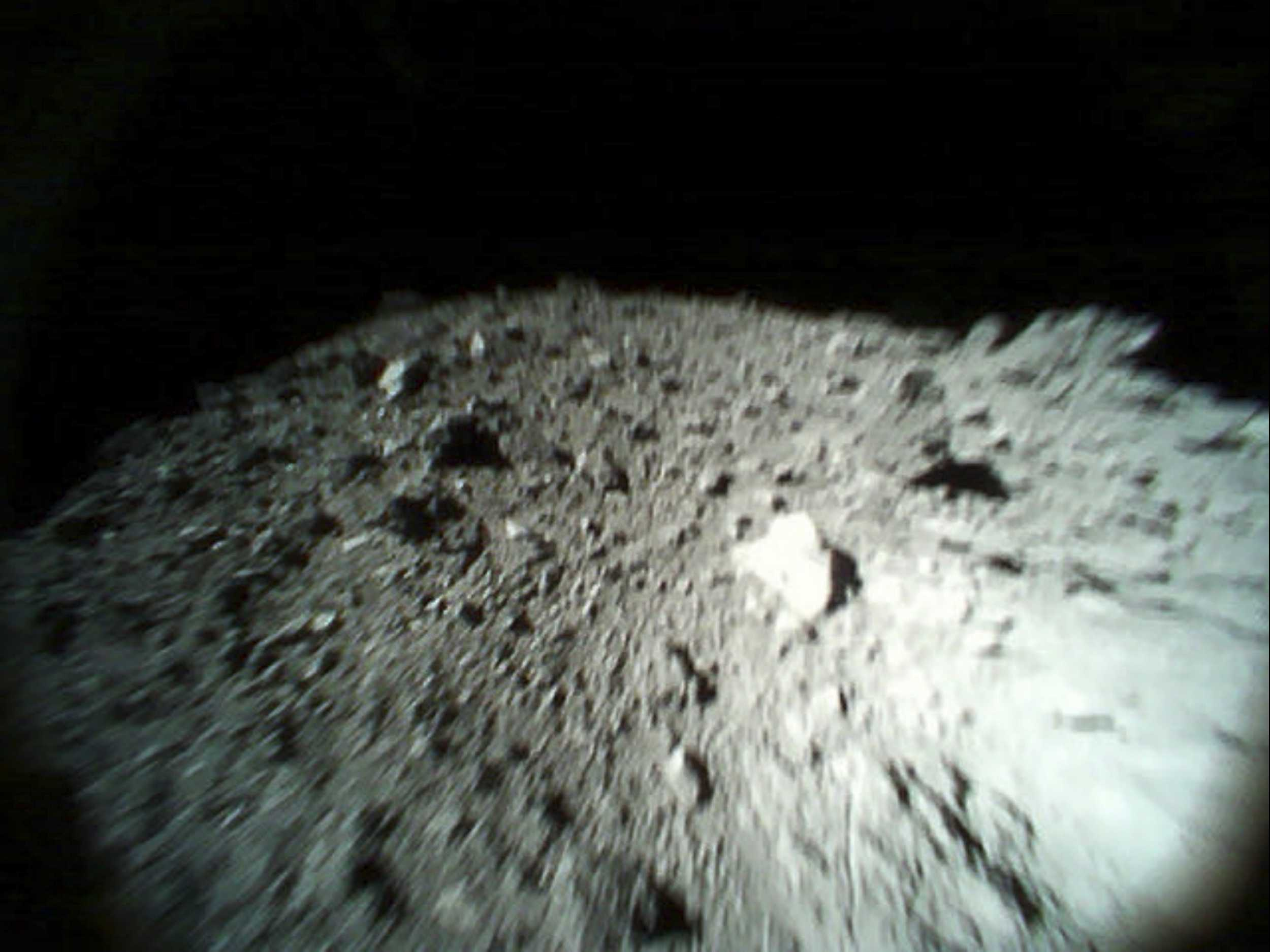 Photos from Japan Space Rovers Show Rocky Asteroid Surface