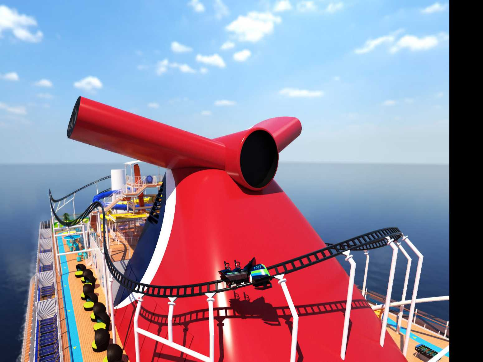 Carnival Announces Rollercoaster on New Cruise Ship