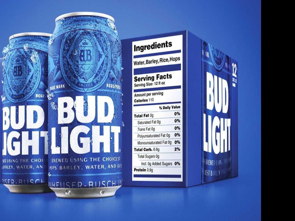 Bud Light Debuts Bigger Nutrition Labels