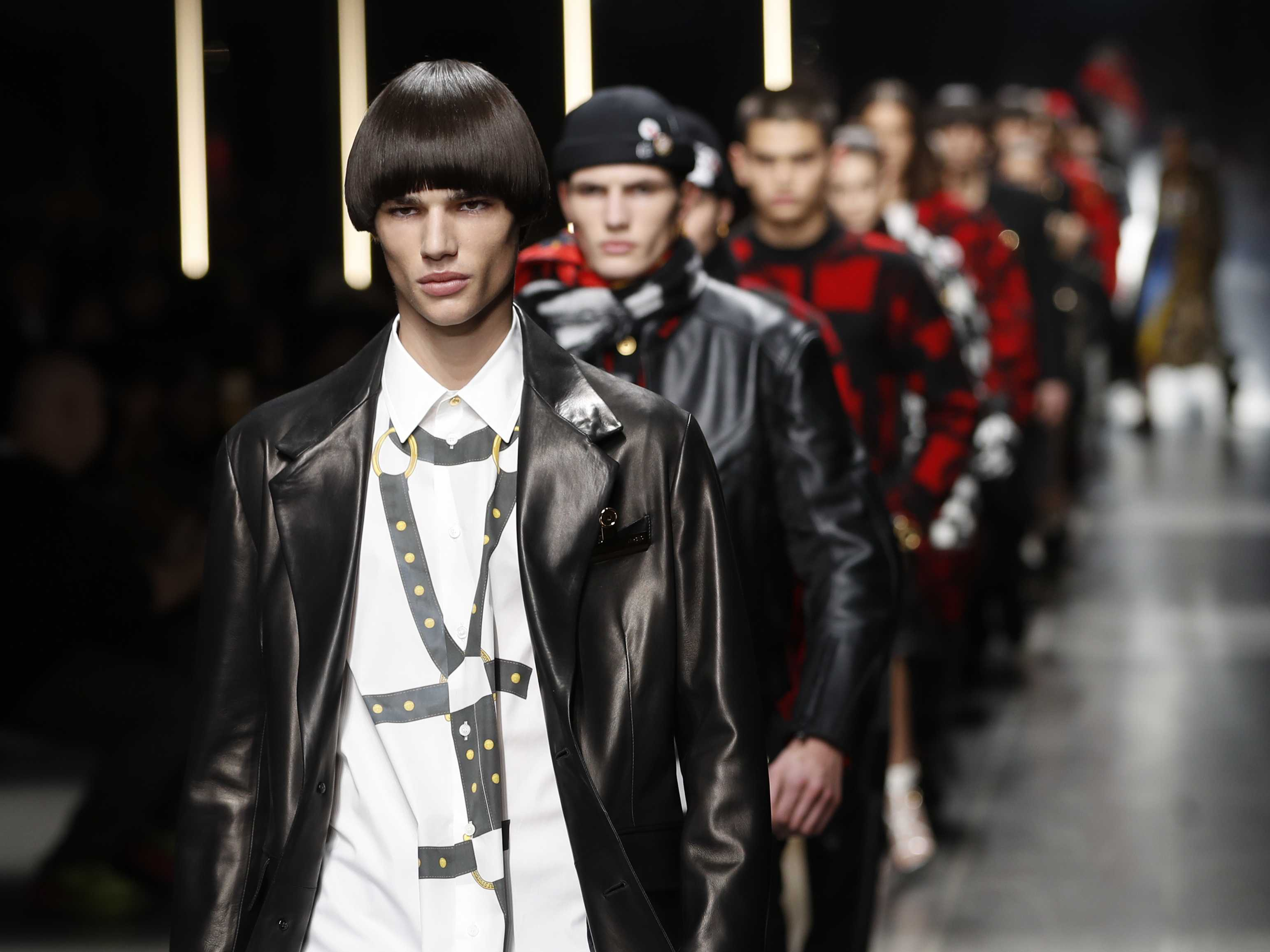 Versace Offers Daring Masculinity; Dolce&Gabbana Go Elegant