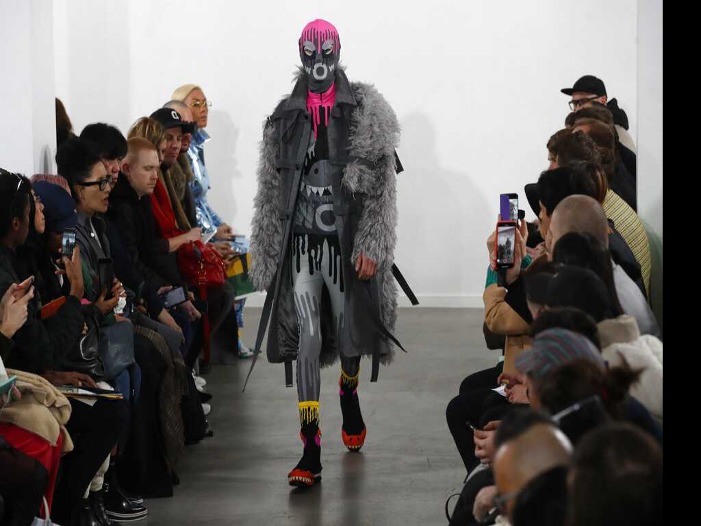 Givenchy Designer Puts on Debut Menswear Show in Paris