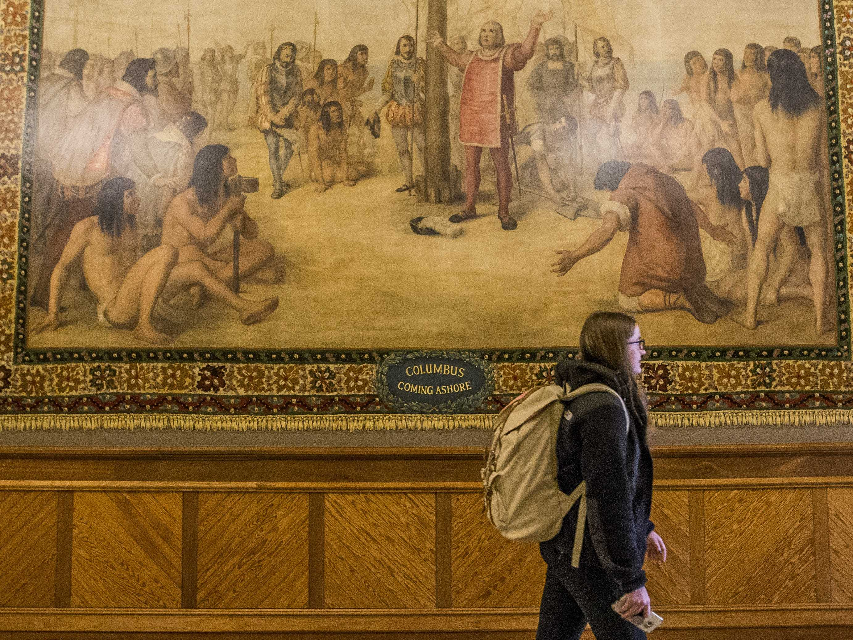 Notre Dame to Cover Up Murals of Columbus in the New World