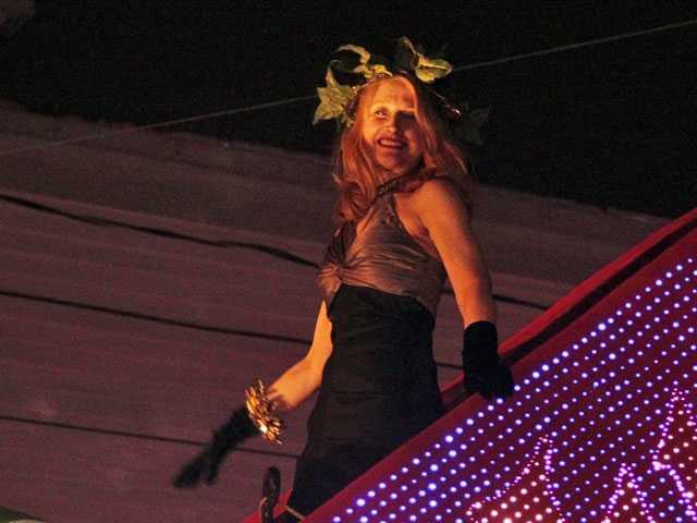 Patricia Clarkson, Mario Lopez in Pre-Mardi Gras Parades