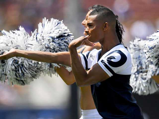 History-Making Male Superbowl Cheerleader Tells His Story in Moving Interview