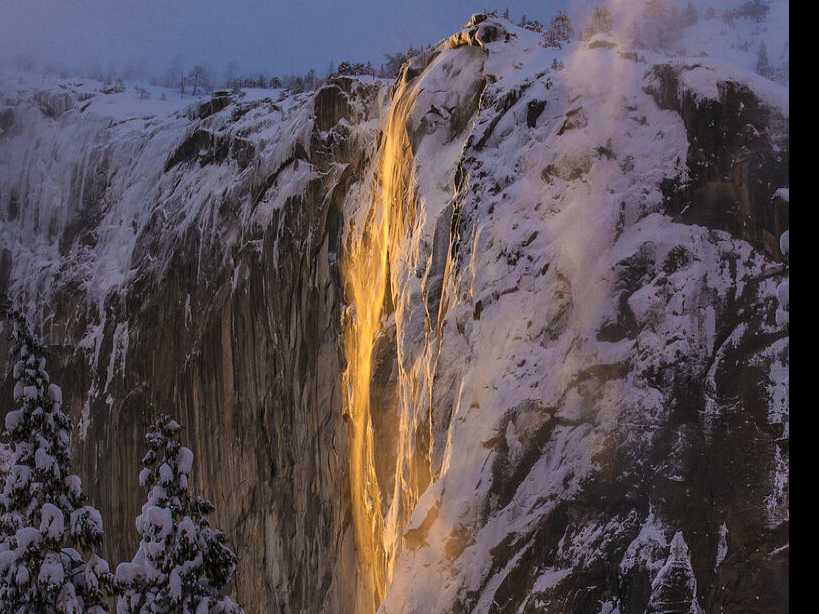 'Firefall' Phenomenon Wows Visitors to Yosemite's El Capitan