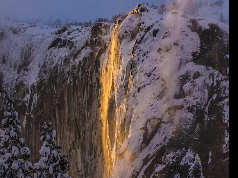 'Firefall' Phenomenon Wows Visitors to Yosemite's El Capitan