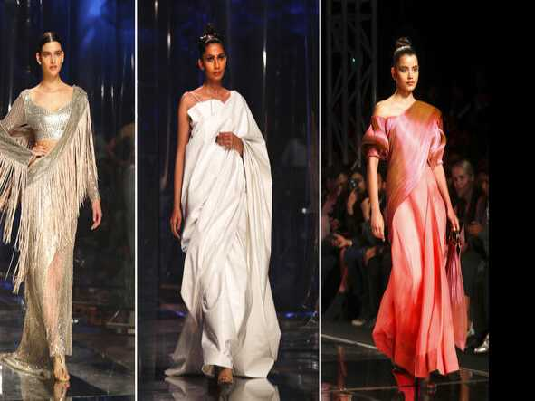 Saris Stand Out on Indian Fashion Runway