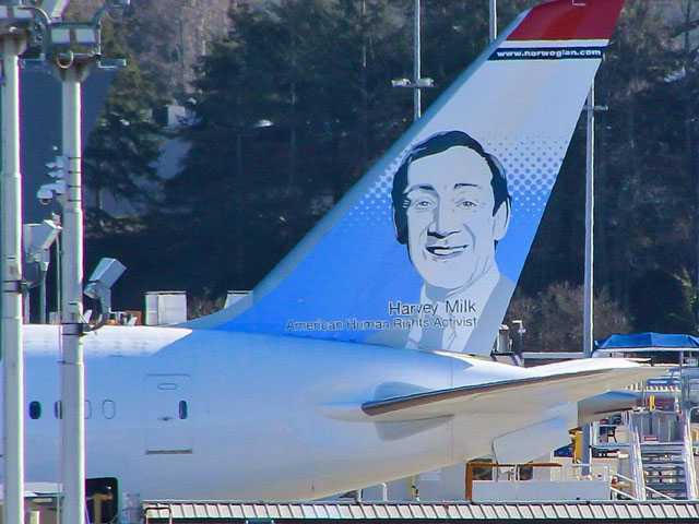 Harvey Milk Becomes Norwegian's Latest American Tail Fin Hero