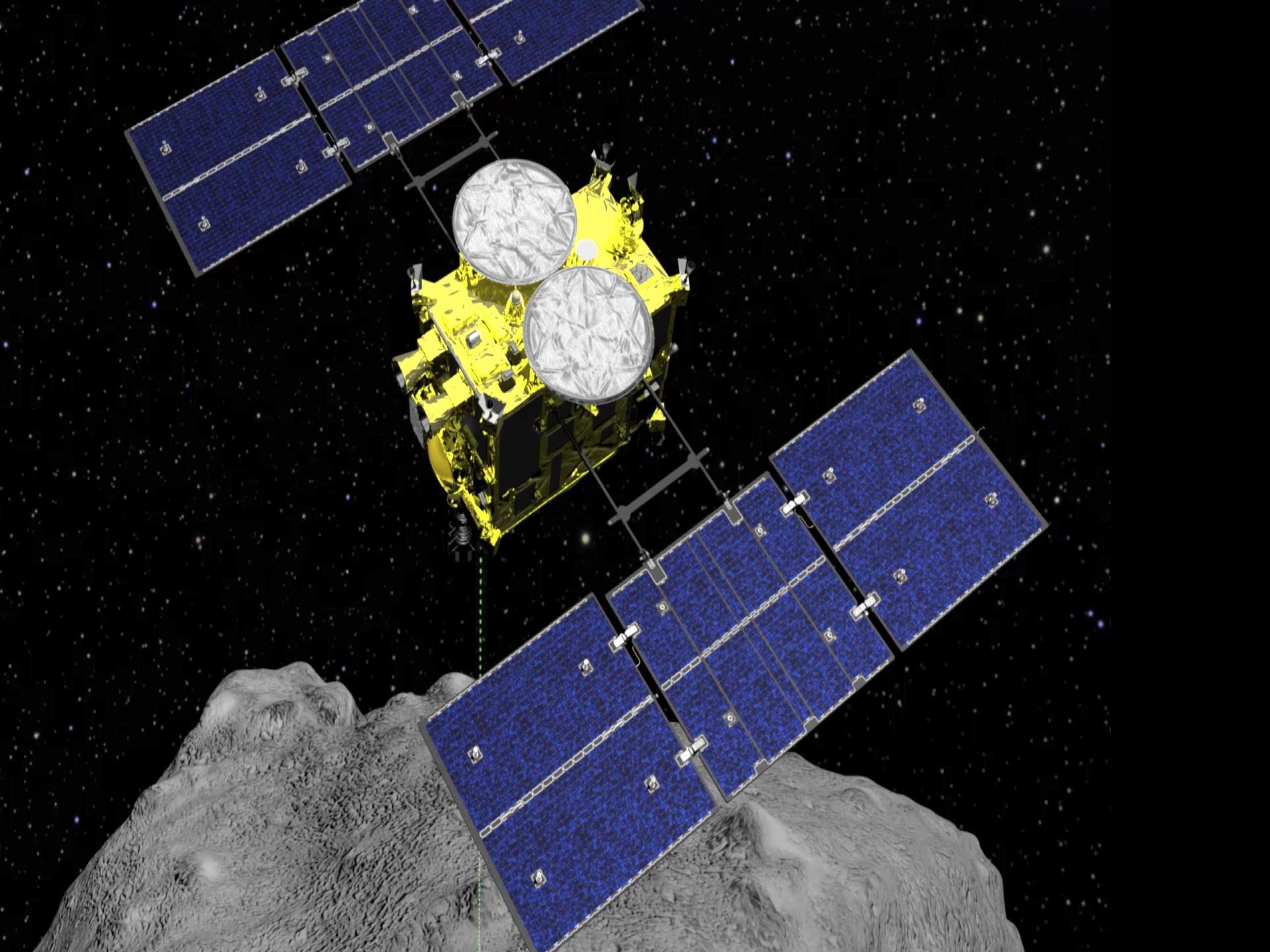 Japan Space Drops Explosive on Asteroid to Make Crater