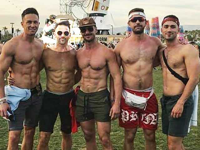 Ex GOP Congressman Aaron Schock Spotted Partying with Shirtless Hunks at Coachella