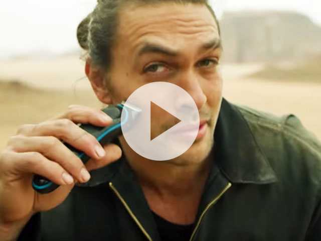 Watch: Jason Momoa Shaves Signature Beard to Promote Recycling