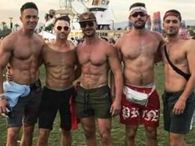 After Backlash, Gay Couple Photographed with Aaron Schock at Coachella Apologize