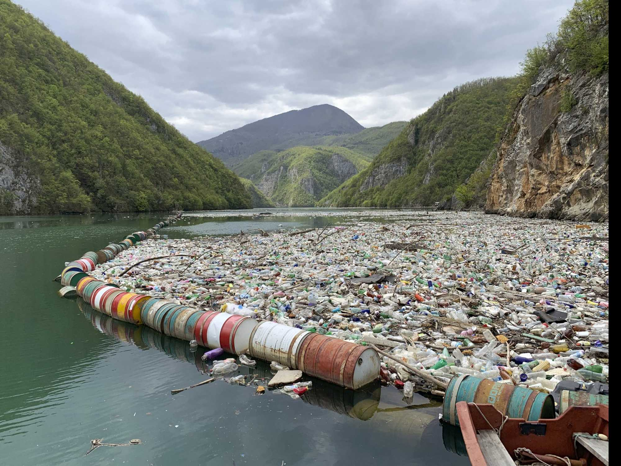 Garbage Clogs Once Crystal-Clear Bosnia Rivers Amid Neglect