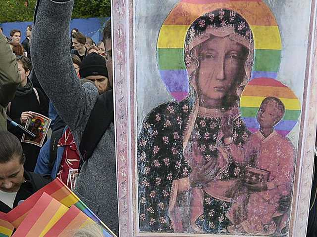 Pro-LGBT Poster with Revered Icon Stirs Poland