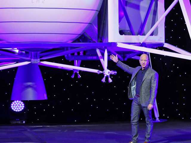 Amazon's Bezos Says He'll Send a Spaceship to the Moon