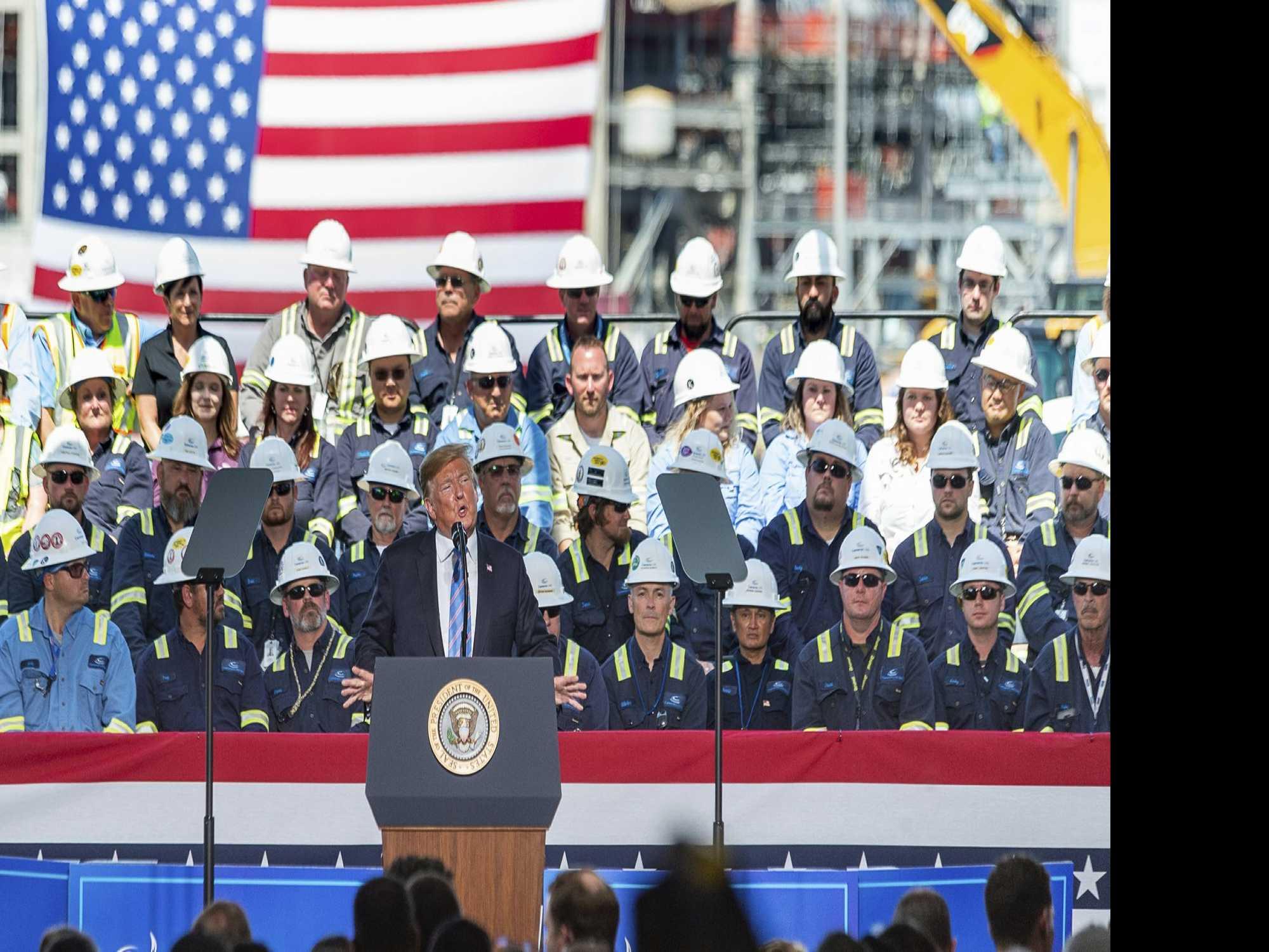 Want A Bridge? Trump Blurs Line Between Governing, Campaign