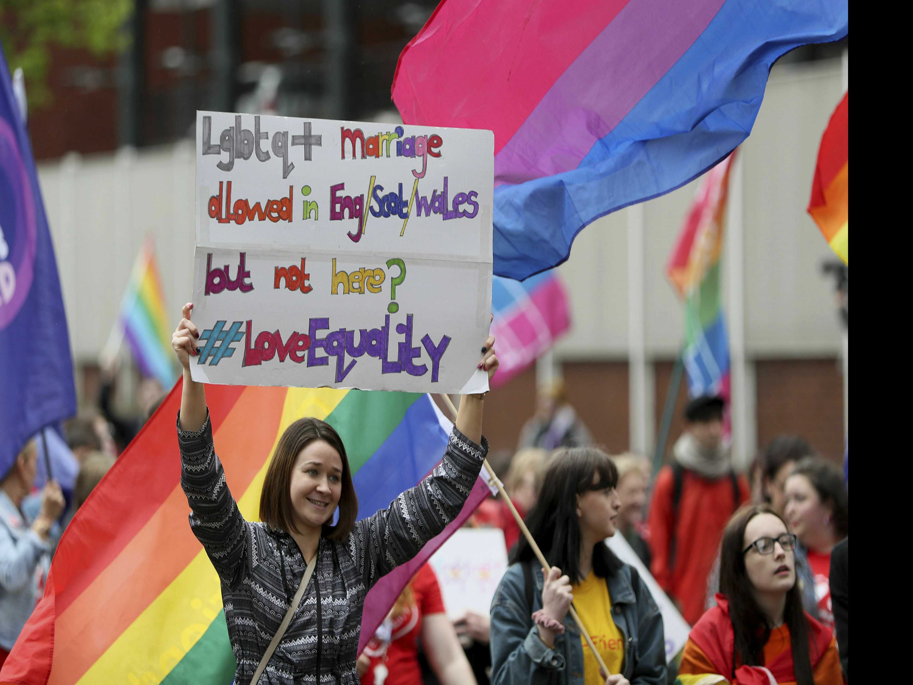 Thousands March in Northern Ireland for Same Sex Marriage