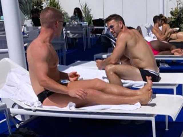 Was That Aaron Schock Poolside at LA Gay Hangout with Speedo-clad Young Man on Scruff?