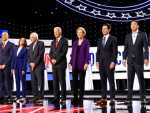 AP Fact Check: Dems Debate on Guns, Syria, Health Care