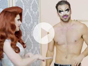 Watch: 'Drag Race' Star Miz Cracker Transforms Queer Model Nyle DiMarco into Fab Queen