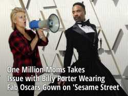 One Million Moms Takes Issue with Billy Porter Wearing Fab Oscars Gown on 'Sesame Street'