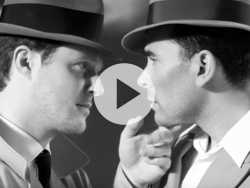 Watch: 'Schitt's Creek' Stars Dany Levy & Noah Reid Recreate Classic Hollywood Romance Scenes