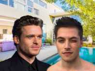 Quarantine-Buds: Actors Richard Madden and Froy Gutierrez Sheltering in Style
