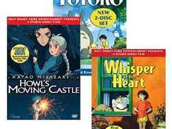 Howl's Moving Castle, My Neighbor Totoro, Whisper of the Heart