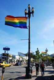 Pride flags unfurled