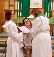 Lutherans install  trans pastor