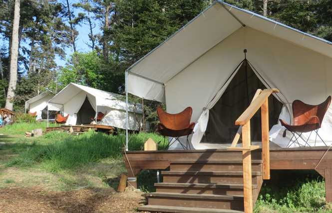 Glamp it up at Mendocino Grove
